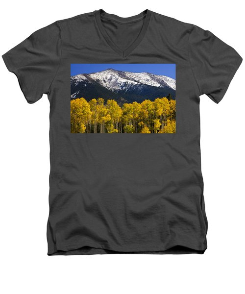 A Dusting Of Snow On The Peaks Men's V-Neck T-Shirt