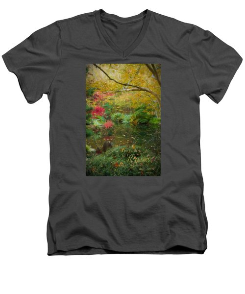 A Fall Afternoon With Message Men's V-Neck T-Shirt