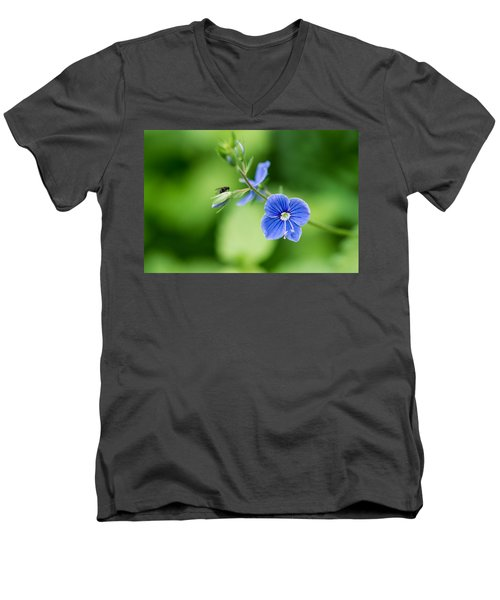 A Flower And A Fly - Featured 3 Men's V-Neck T-Shirt by Alexander Senin