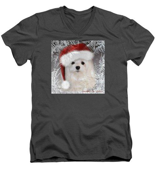 A Frosty Morning Men's V-Neck T-Shirt by Morag Bates