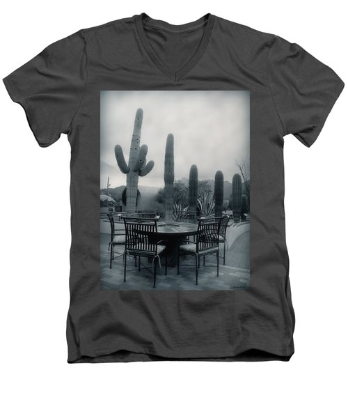 A Gentle Winter Rain Men's V-Neck T-Shirt by Lucinda Walter