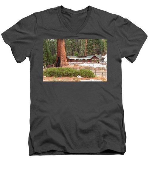 A Giant Among Trees Men's V-Neck T-Shirt by Muhie Kanawati