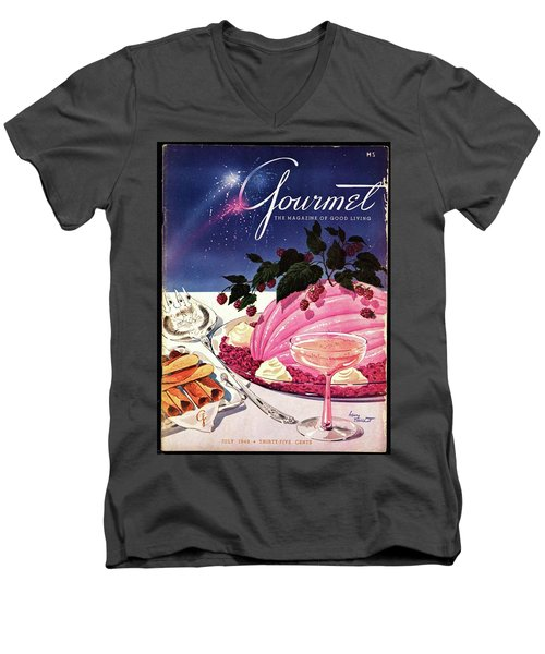 A Gourmet Cover Of Mousse Men's V-Neck T-Shirt