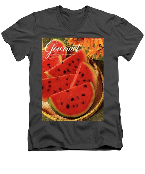 A Gourmet Cover Of Watermelon Sorbet Men's V-Neck T-Shirt