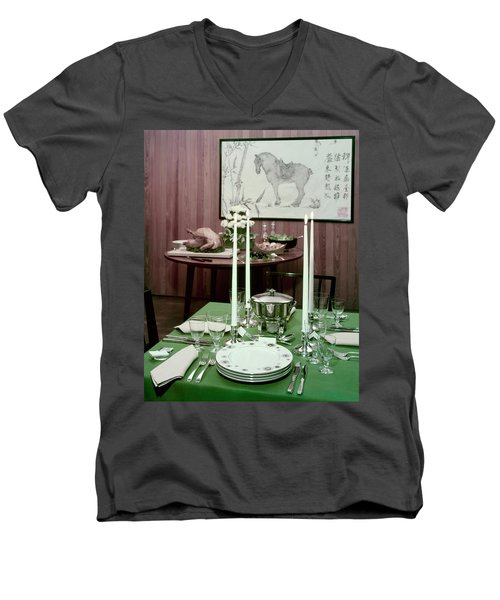 A Green Table Men's V-Neck T-Shirt