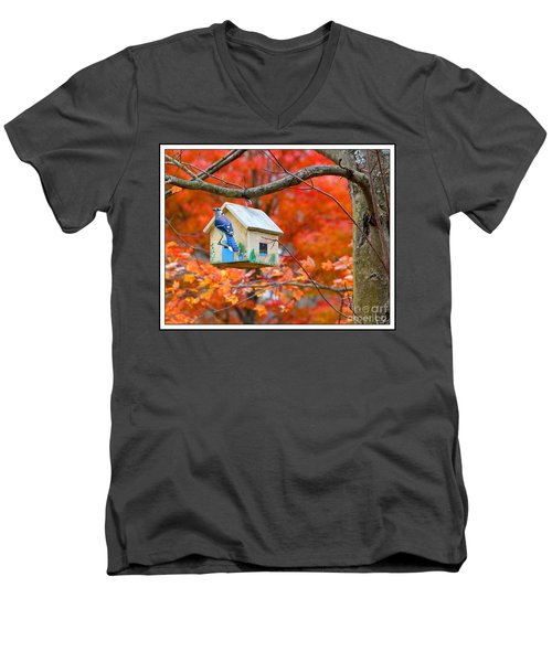Men's V-Neck T-Shirt featuring the photograph A Home In The Country by Mariarosa Rockefeller