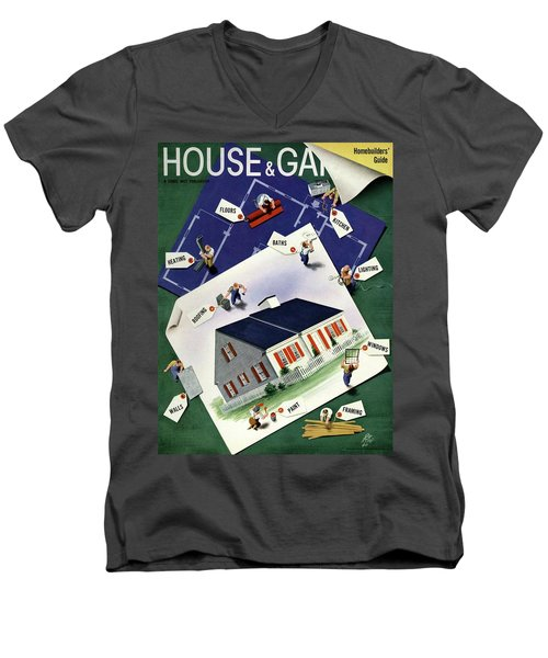 A House And Garden Cover Of A House Men's V-Neck T-Shirt