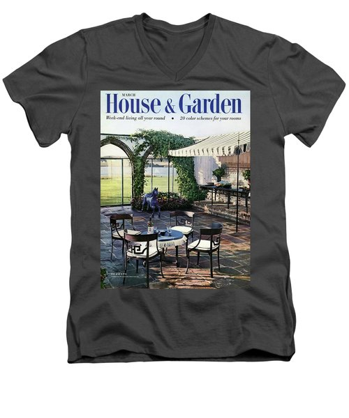 A House And Garden Cover Of A Terrace In East Men's V-Neck T-Shirt