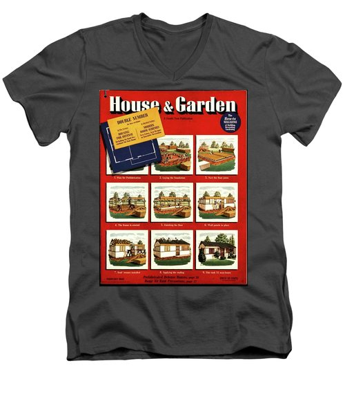 A House And Garden Cover Of Construction Stages Men's V-Neck T-Shirt