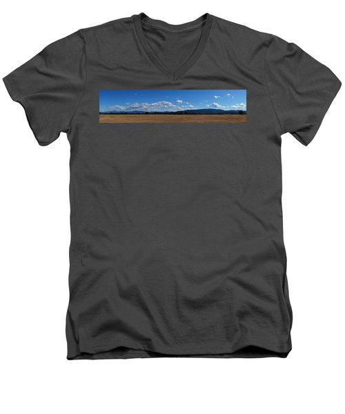 A June Panorama In Southern Oregon Men's V-Neck T-Shirt