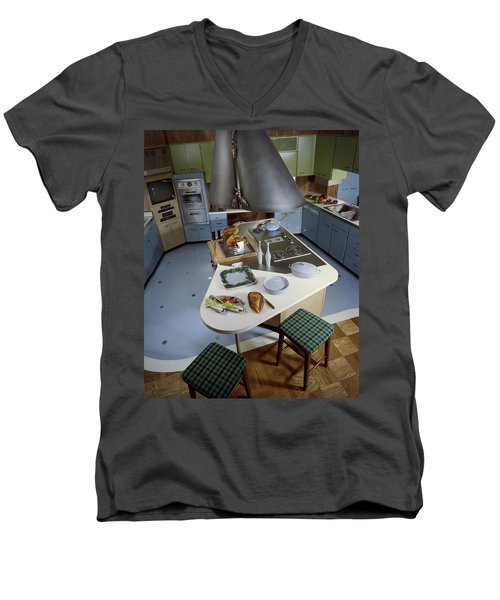 A Kitchen Designed By Ralph & Jane Bonnell Men's V-Neck T-Shirt