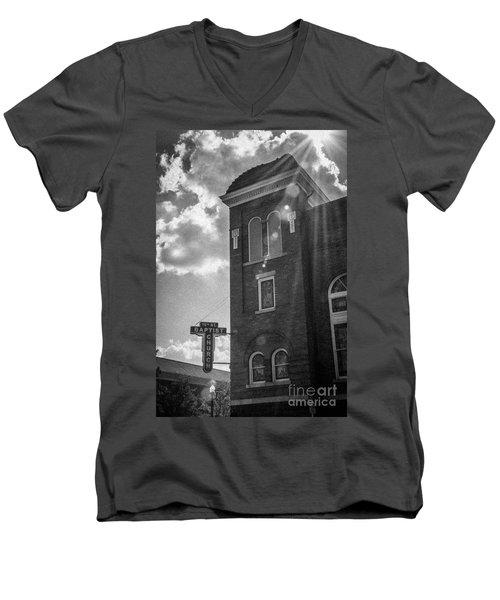 A Light Shines Down Men's V-Neck T-Shirt