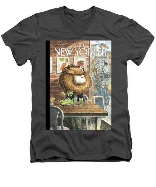 A New Leaf Men's V-Neck T-Shirt