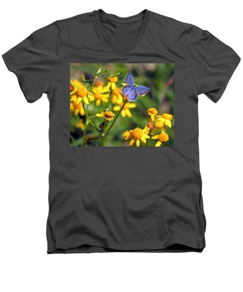 A Little Blue Men's V-Neck T-Shirt