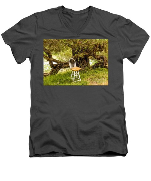 A Little Solitude Men's V-Neck T-Shirt
