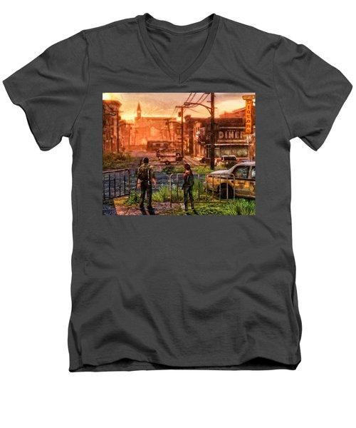 A Long Journey Men's V-Neck T-Shirt