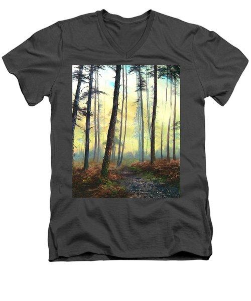 A Lovely Walk On Cannock Chase Men's V-Neck T-Shirt by Jean Walker