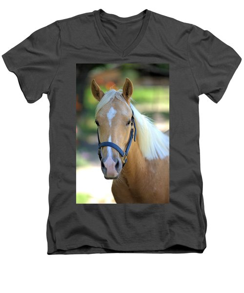 Men's V-Neck T-Shirt featuring the photograph A Loyal Friend by Gordon Elwell