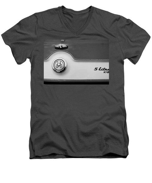 Men's V-Neck T-Shirt featuring the photograph A M C 1972 Gremlin Marque by John Schneider