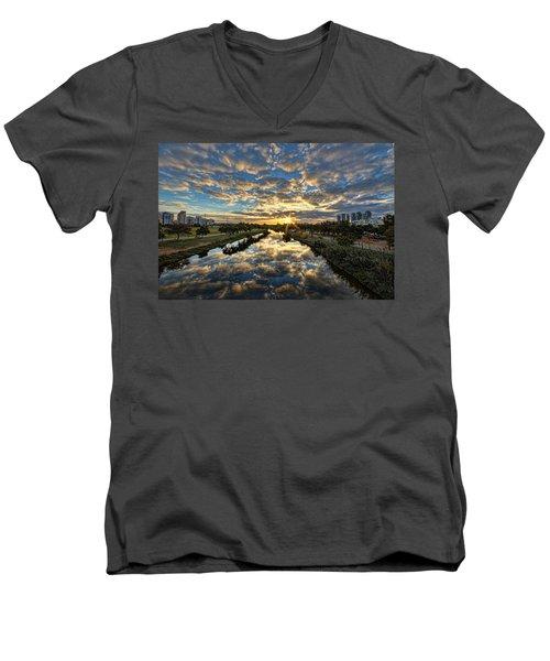 A Magical Marshmallow Sunrise  Men's V-Neck T-Shirt