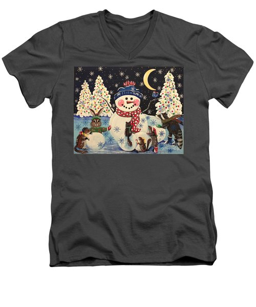 A Magical Night In The Snow Men's V-Neck T-Shirt