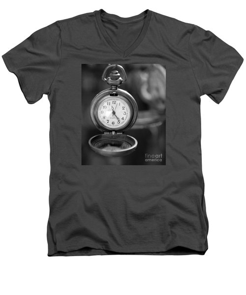A Moment In Time Men's V-Neck T-Shirt by Nina Silver