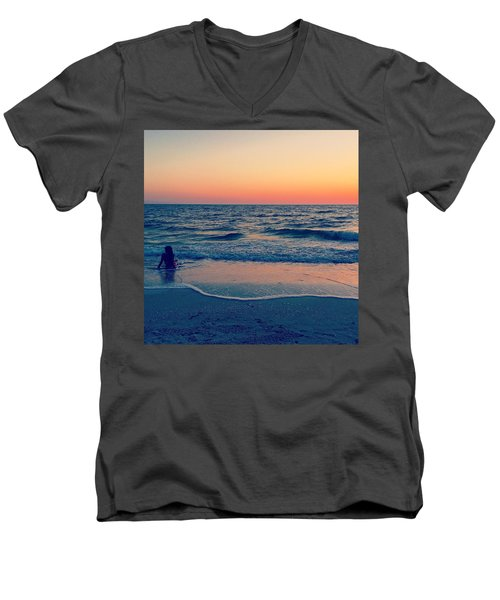 Men's V-Neck T-Shirt featuring the photograph A Moment To Remember by Melanie Moraga