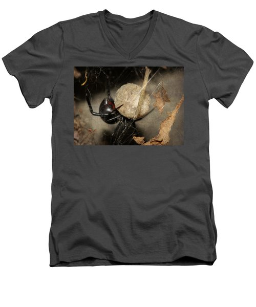 A Mothers Den Men's V-Neck T-Shirt by Melanie Lankford Photography