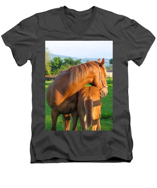 A Mother's Love Men's V-Neck T-Shirt by Suzanne Oesterling