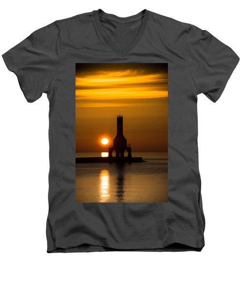 A New Day Men's V-Neck T-Shirt by James  Meyer