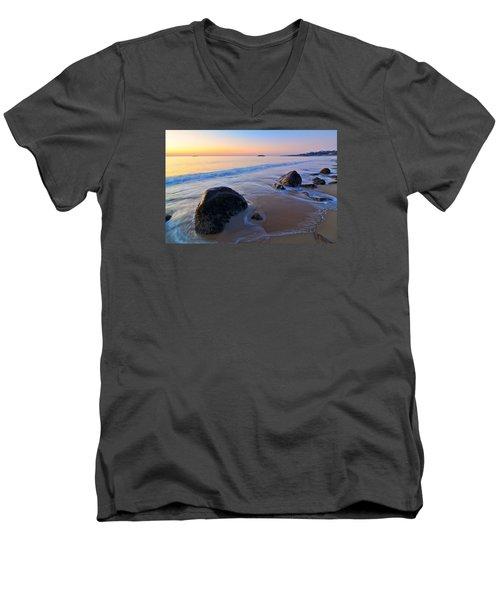 A New Day Singing Beach Men's V-Neck T-Shirt