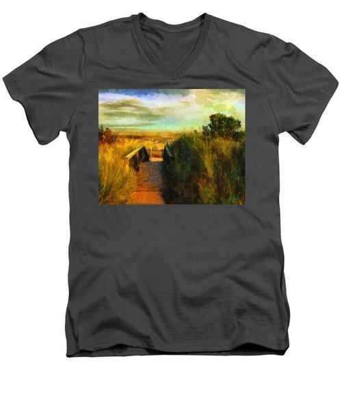 A Path To The Beach Men's V-Neck T-Shirt