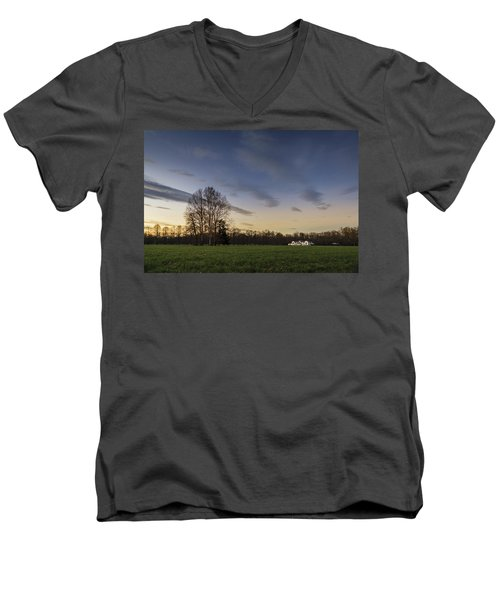 A Peaceful Sunset Men's V-Neck T-Shirt