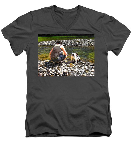 A Perfect Day Men's V-Neck T-Shirt by Micki Findlay