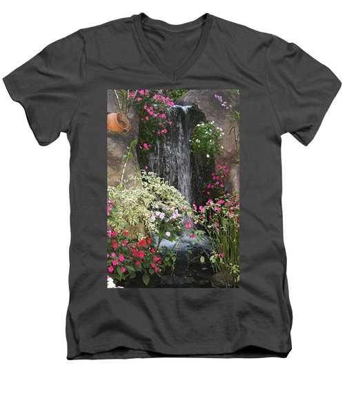 Men's V-Neck T-Shirt featuring the photograph A Place Of Serenity by Bruce Bley