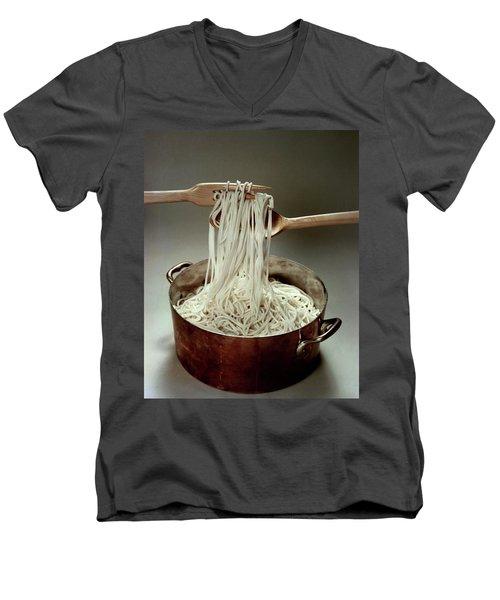 A Pot Of Spaghetti Men's V-Neck T-Shirt