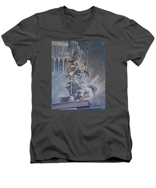 A Prayer For My Brothers Men's V-Neck T-Shirt by Catherine Swerediuk
