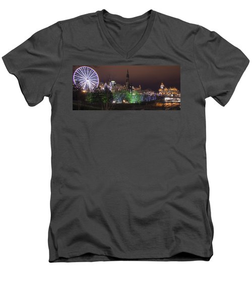 A Princes Street Gardens Christmas Men's V-Neck T-Shirt
