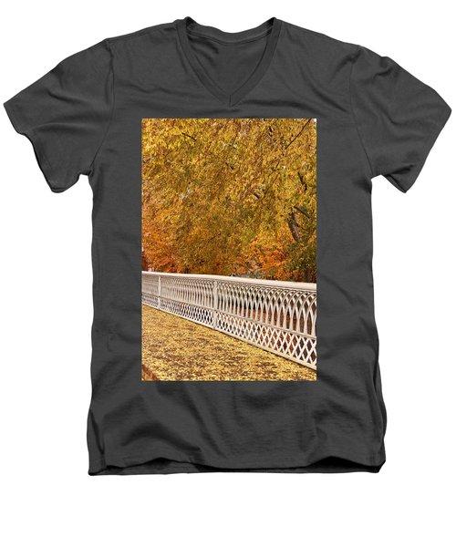 A Quiet Day On The Riverwalk Men's V-Neck T-Shirt