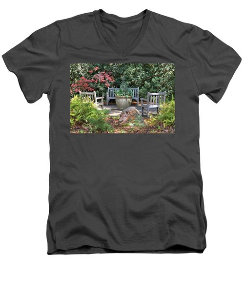 A Quiet Place To Meet Men's V-Neck T-Shirt by Gordon Elwell