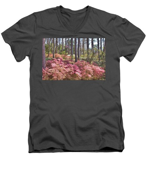 A Quiet Spot In The Woods Men's V-Neck T-Shirt by Gordon Elwell