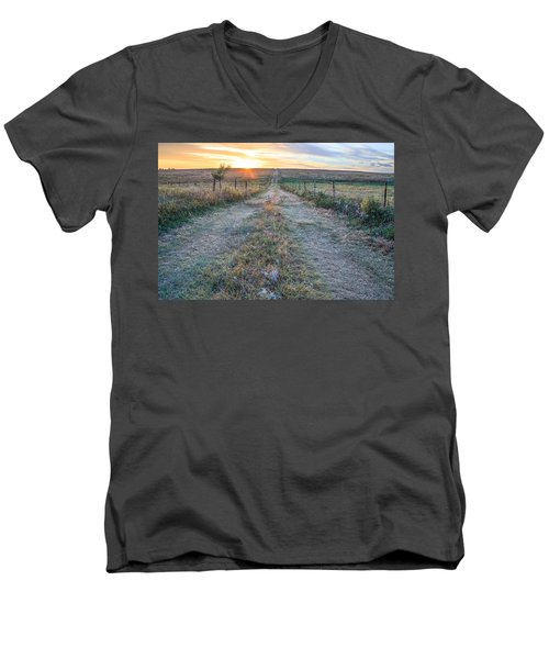 A Road Less Traveled Men's V-Neck T-Shirt