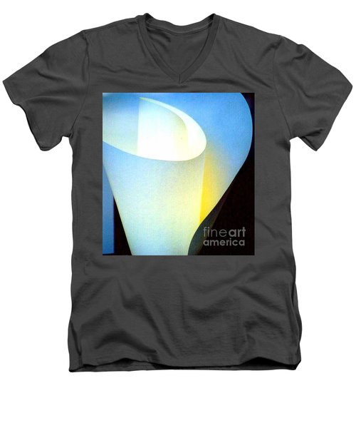 Men's V-Neck T-Shirt featuring the photograph A Shade Of Illumination by Michael Hoard