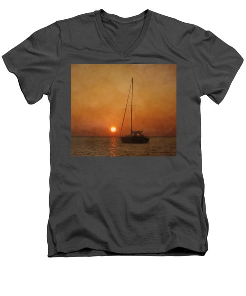 A Ship In The Night Men's V-Neck T-Shirt