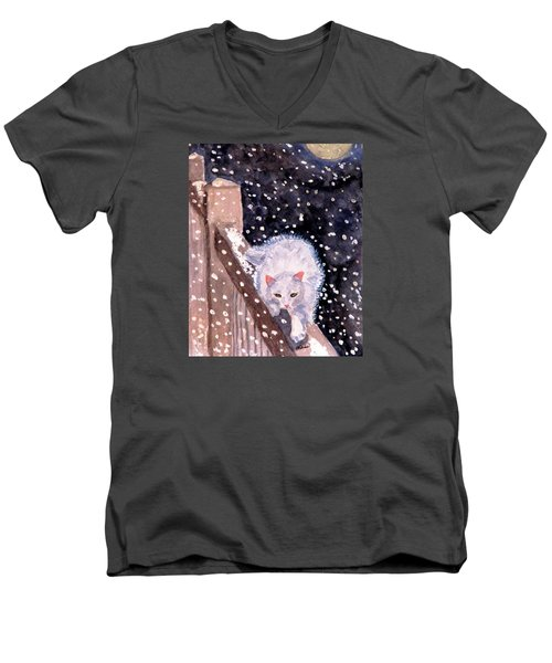 A Silent Journey Men's V-Neck T-Shirt by Angela Davies