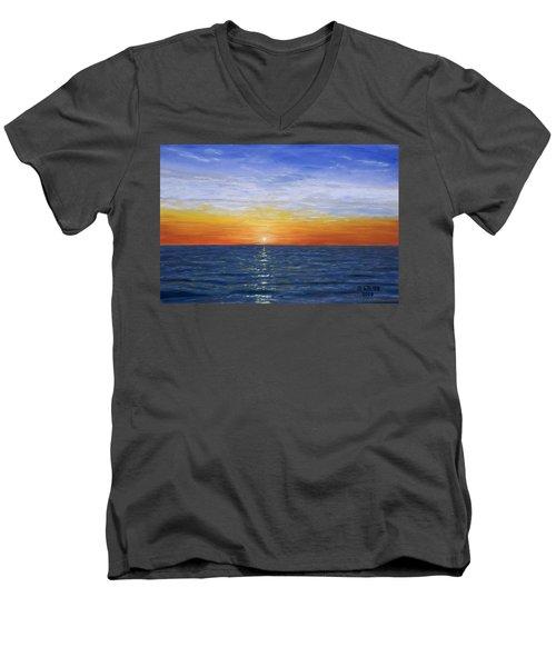 A Silent Moment Men's V-Neck T-Shirt
