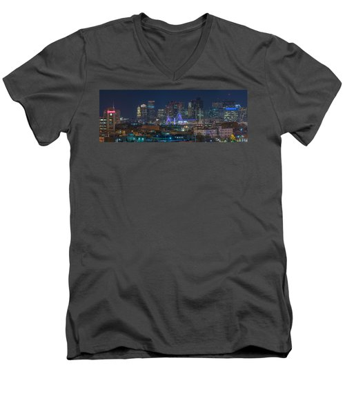 A Somerville View Men's V-Neck T-Shirt