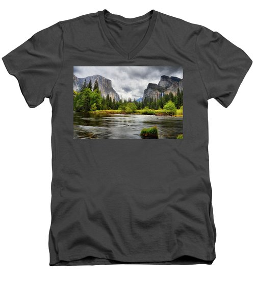 A Storm Draws Near  Men's V-Neck T-Shirt