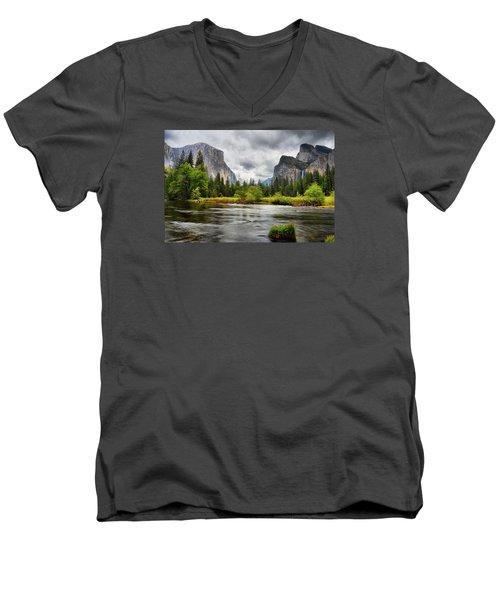 A Storm Draws Near  Men's V-Neck T-Shirt