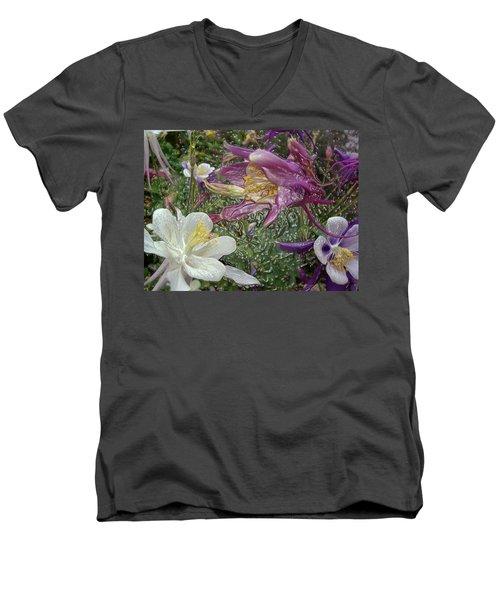 a taste of dew i do and PCC  garden too     GARDEN IN SPRING MAJOR Men's V-Neck T-Shirt